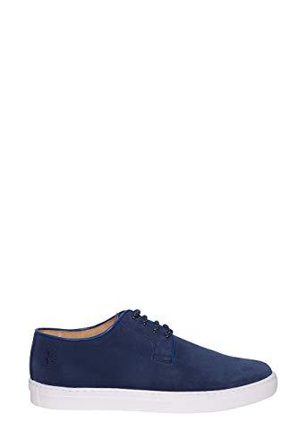 Sneaker Polo in Camoscio Con para in Gomma e Logo sul Tallone