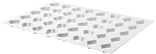 Martellato Kunststoff Karte Form Cookie Cutter, 60x 40cm, weiß Ice Cutters