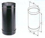 Ofenrohr-15,2x 30,5cm schwarz -