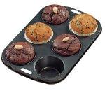 Zenker 43437 6er Muffinform 29x20 cm, Cake King