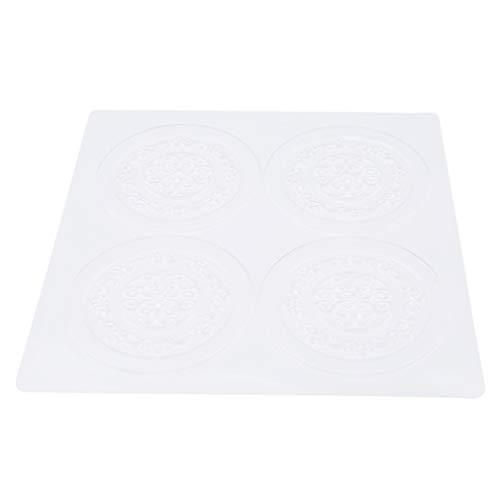 Jixing 3 STÜCKE Kunststoff Backen Fondant Impressum Matten Set Blume Textur Matte Fondant Kuchen Grenze Dekorieren-Transparent