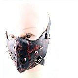 Zantec Gesichtsmaske, Crazy Genie Halloween Cosplay Gothic Horror Anti Staub Radfahren Fahrrad Motorrad Racing Ski (Blut)