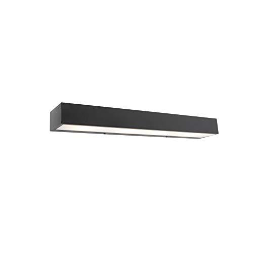 QAZQA Diseño Aplique diseño alargado negro 60cm