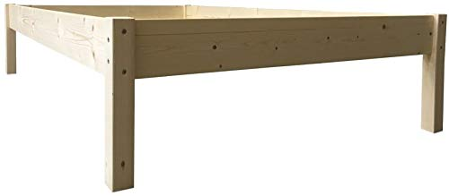 LIEGEWERK Seniorenbett erhöhtes Bett Holz, HÖHE 45cm, Massivholzbett 90 100 120 140 x 200cm hergestellt in BRD