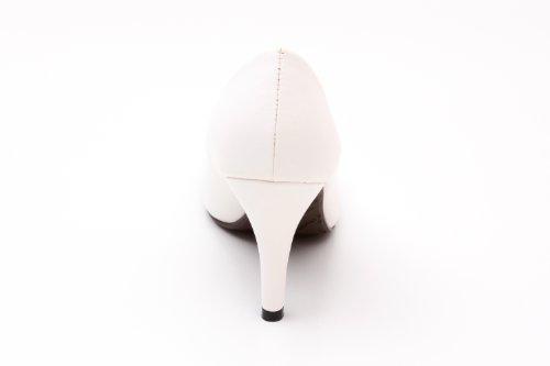 Andres Machado - AM422 - Klassischer Damenschuh aus verschiedenen Materialien und Farben Weiß