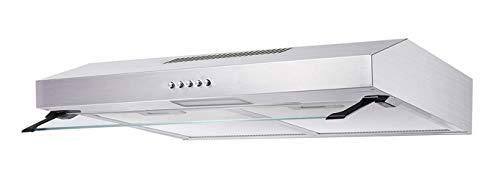 K&H® Dunstabzugshaube, Unterbauhaube, LED, 200 m³/h, Edelstahl, Energieklasse C, UH01-60CS
