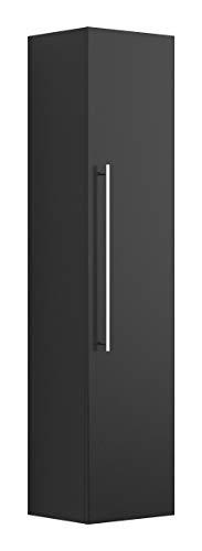 Black Hochschrank (emotion Hochschrank 150 cm schwarz seidenglanz)