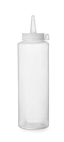 Hendi 557822 Spenderflasche für Saucen, 0,35 L, Polypropylen, Transparent