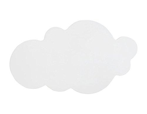 Bainba Aplique de Pared en Forma de Nube E27, Blanco, 48 x 26cm