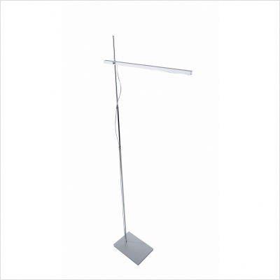 LED Stehleuchte Linear in Aluminium gebürstet / Chrom - Chrom-gebürstet Stehleuchte