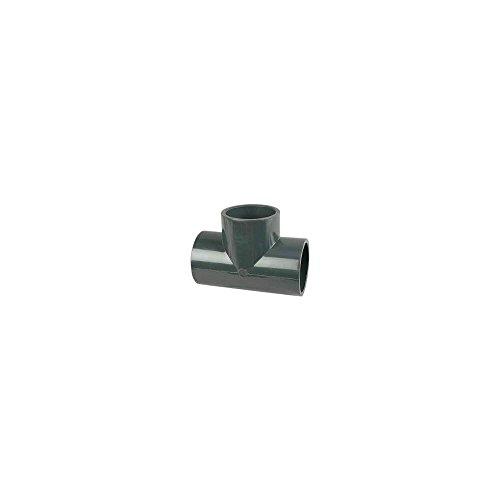 té pvc pression - femelle / femelle - 90 degrés - diamètre 50 mm - nicoll t50f