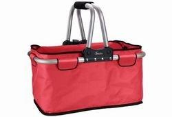 | 25 kg | 26 l | Faltbar | Reißverschluss | Carry-Bag | Einkaufs-Tasche | Shopping-Bag | NEU Farbe Rot (Rote Körbe)