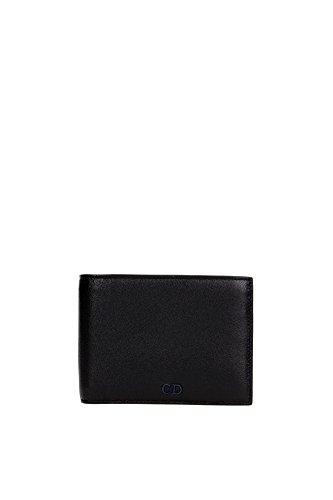 portefeuille-christian-dior-homme-cuir-noir-et-bleu-2cnbh027cnt965u-noir-9x11-cm