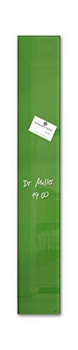 Sigel GL251 kleines Glas-Magnetboard 12 x 78 cm grün / Magnettafel artverum - weitere Farben
