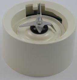 KitchenAid KSB555 Blender Jar Base / Collar with Blades Almond Creme Cream (twist on version for KSB555, KSB565 etc)