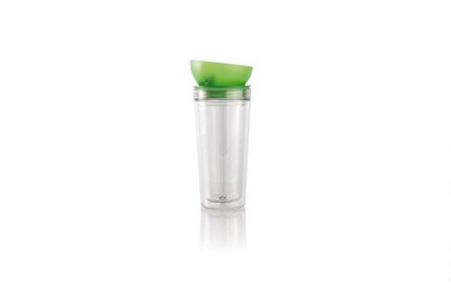 Finum Chill Out Tasse de voyage Vert pomme/transparent 0,3 l
