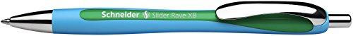 Schneider Schreibgeräte Kugelschreiber Slider Rave, Druckmechanik, XB, grün