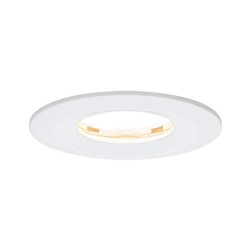 Paulmann Licht 938.81 Paulmann 93881 LED Coin Flache Einbaustrahler Slim Deckenspot rund 6,8W Weiß Einbaulicht dimmbar IP65 strahlwassergeschützt Einbauleuchte 6.8 W, matt