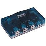 D-Link DU-H7, 7-Port USB Hub, 7 x A-Port, 1 x B-Port, AC-Adapter, Kabel