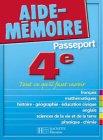 Telecharger Livres Aide Memoire Passeport 4e 13 14 ans (PDF,EPUB,MOBI) gratuits en Francaise