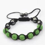 Eeazy-Gizmo® Light Green Shamballa Bracelet Unisex Crystal Swarovski Beads