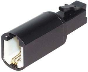 30x GR-Kabel Telefon Twist Stop - schwarz - Kabel, NT-295.Z -