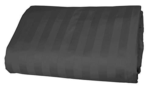 Elegant 1-pc Spannbetttuch Extra Long Fit bis zu 50,8cm Zoll Tiefe Pocket Stripe Fadenzahl 400'- 100% Ägyptische Baumwolle in 9Größen und 31Farben., baumwolle, Grau (Elephant Grey), Twin (Twin Extra Long Rock Bed)