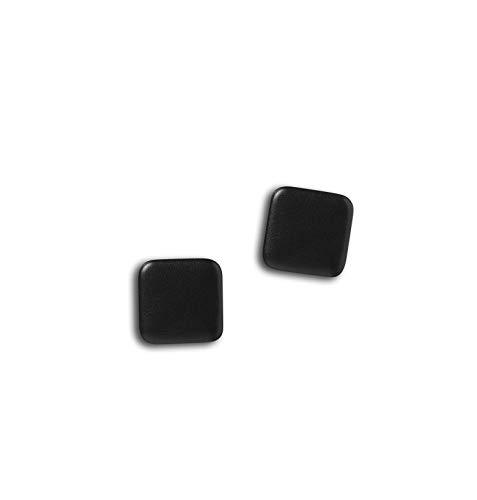 NAGA, Superstarker quadratischer Magnet, Schwarze Lederoptik, 2,5 x 2,5 cm. - Magnete Quadratische