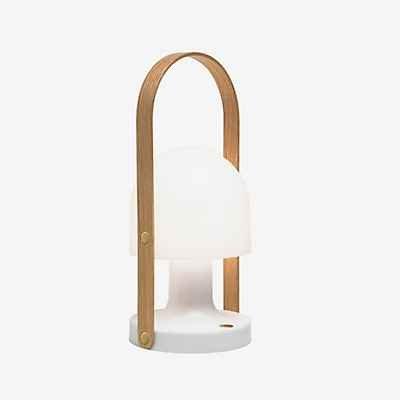FOLLOW ME - Lampe baladeuse LED rechargeable d'extérieur Chêne/Blanc H28,8cm