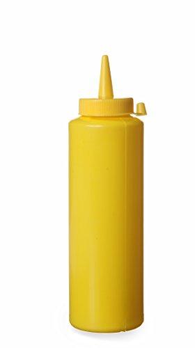Hendi 557808 Spenderflasche für Saucen, 0,35 L, Polypropylen, Gelb