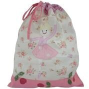 GIRLS BALLERINA EMBROIDERED BALLET BAG/TOY TIDY/LAUNDRY BAG