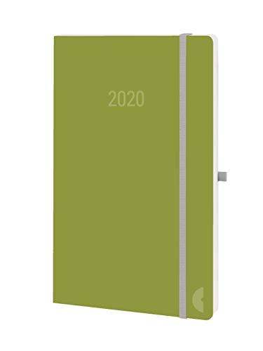 Chronoplan 50780 Buchkalender 2020, A5 Softcover (1 Woche/2 Seiten), moss green (Auf Zwei Seiten Pro Woche)