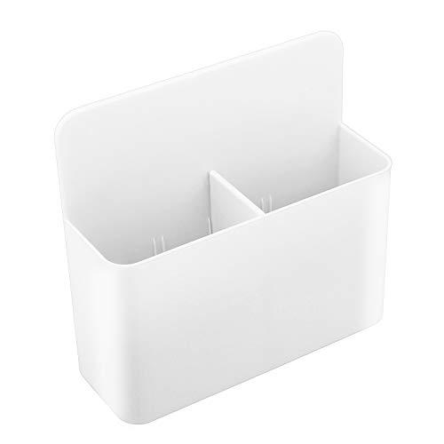 MoKo Magnetischer Marker Halter, magnetischer Stifthalter für Whiteboard, Kühlschrank, Spind und andere magnetische Oberflächen, Weiß