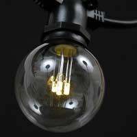 Novelty Lights LED G50Outdoor Terrasse Globe Glühbirnen Ersatz, warmweiß, Sockel E17/C9,...