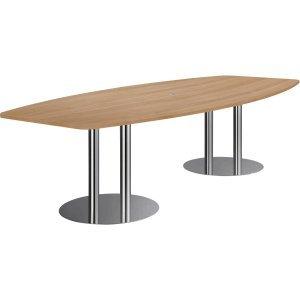 Konferenztisch mit Säulenfüßen 280x130/78cm Nussbaum