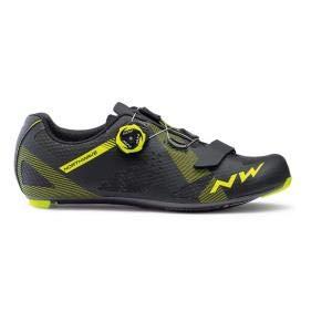 Northwave Storm Carbon Rennrad Fahrrad Schuhe schwarz/gelb 2019: Größe: 44