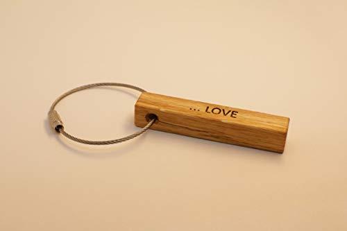 Schlüsselanhänger in Eichenholz | mit Ihrer Wunschgravur