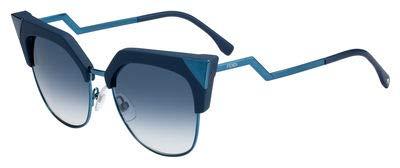 Fendi ff 0149/s 08 zi9 54 occhiali da sole, turchese (trsteal teal/gy grey), donna
