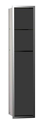 emco asis WC-Modul (150) UP, 809mm, ohne Einbaurahmen, Chrom/Schwarz