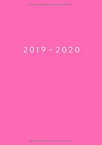 2019 - 2020: Wochenplaner ab KW18 | Mai 2019 bis Dez 2020 Kalender | 1 Woche auf 1 Seite Planer | DIN A5 Format Terminkalender | Lady Pink