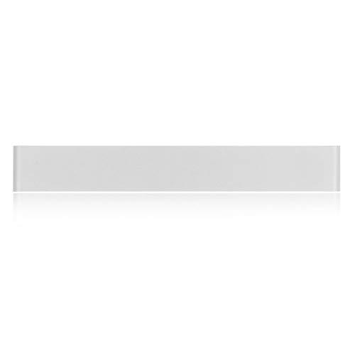 Nachttischlampe Wandlampe Mit Sockel Wohnzimmer Wandlampe Wand Metall Satin Nickel Weiß Stoff Lampenschirm Top Qualität Für Familie Und Hotel,24 Cm,Weißes Licht Satin Elegante Top Hat