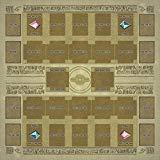 TOY-GTO Yu-gi-oh Spielmatte aus Gummi, ägyptische Wandbilder, Stil für Wettkampf, 60 × 60 cm, Größe 2 mm, Link Summon Korrespondenz, Extra Monster Zone - Dark Yu-gi-oh-karte Magician