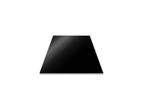 Pebbly 99-14PPMID Planche de Protection pour Plaque de Cuisson Verre Trempé Noir 50 x 28 cm