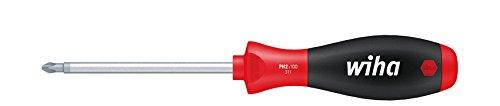 Wiha Schraubendreher SoftFinish Phillips mit Rundklinge (00763) PH4 x 200 mm ergonomischer Griff für kraftvolles Drehen, Allrounder für Industrie und Handwerk