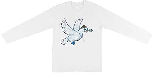 Das Hippie Taube Kinder Unisex Jungen Mädchen Weiß Langarm T-Shirt Kids Unisex Long Sleeve T-Shirt