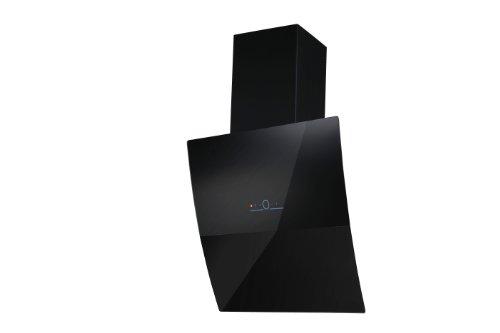 BERGSTROEM Dunstabzugshaube Kopffreihaube Edelstahl Glas Nachlauffunktion 60cm Black Elegance
