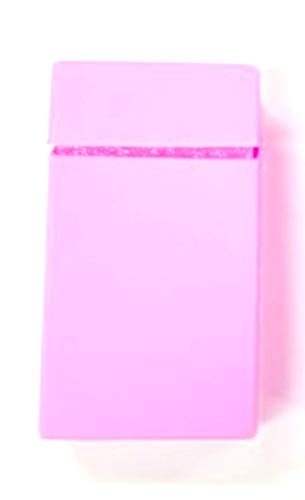 Zigarettenetui Zigarettenbox aus Silikon für Slim Zigaretten rosa Etui Geschenk - LK Trend & Style