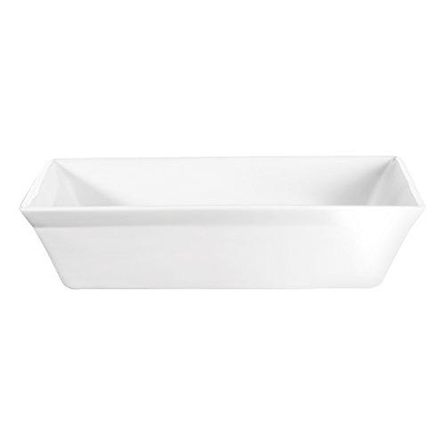 52042017 ASA-Piatto da torta in porcellana, 32 x 28 x 7,5 cm, colore: bianco
