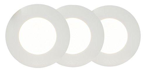 AEG Orbita LED Einbauleuchten Set: 3 Stück, 3 x 400 Lumen, Aluminium, Integriert, 4 W, weiß matt, 0 x 0 x 3.2 cm, 3 Einheiten
