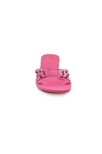 Fornarina Synthetic Sandals with Slip Proof Heel (3,5 cm) mod. PEFMT4704WQ Fuxia